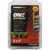 Power Pro Screws, Multi-Material, Exterior, 2 Inch