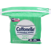Cottonelle GentlePlus Flushable Wet Wipes with Aloe & Vitamin E Refill Pack
