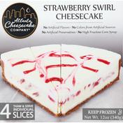 Atlanta Cheesecake Cheesecake, Strawberry Swirl