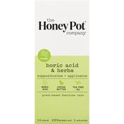 Honey Pot Suppositories + Applicator, Boric Acid & Herbs