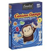 Essential Everyday Fruit Flavored Snacks, Curious George