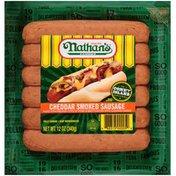 Nathan's Cheddar Smoked Sausage