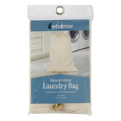 Whitmor Natural Cotton Laundry Bag
