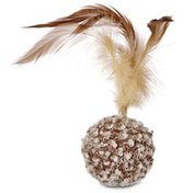 Leaps & Bounds Cat Bu Nature Ball With Feather