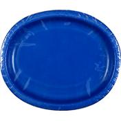 First Street Plates, Oval, Cobalt