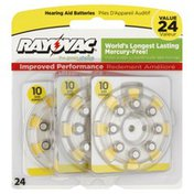 Rayovac Batteries, Hearing Aid, Size 10, Value Pack