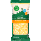 Food Club Shredded Cheese, Two Cheese Blend, Pizza Style