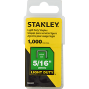 Stanley Staples, Light Duty, 5/16 Inch