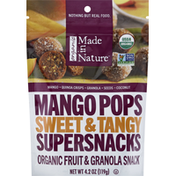 Made in Nature Mango Pops, Organic, Sweet & Tangy, Supersnacks