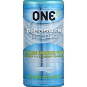 O.n.e. Condoms, Lubricated, Pleasure Plus