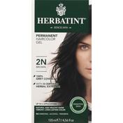 Herbatint Haircolor Gel, Permanent, Brown 2N, Box