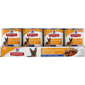 Hill's Science Diet Dog Food, Premium, Savory Stew with Chicken & Vegetables, Adult 7+