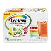 Centrum Multivitamin/Multimineral Supplement Flavor Burst Drink Mix Raspberry Lemonade - 24 CT