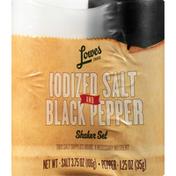 Lowes Foods Shaker Set, Iodized Salt and Black Pepper