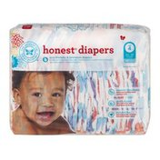 The Honest Company Honest Diapers Painted Feathers Size 4 - 29 CT
