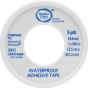 Signature Care Adhesive Tape, Waterproof, 5 Yards