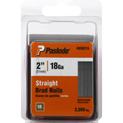 Paslode Brad Nails, Straight, Galvanized, 2 Inch