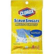 Clorox ScrubSingles Decide-A-Size Scrubbing Pads