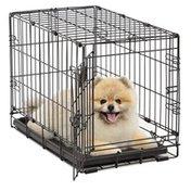 "iCrate 22"" x 13"" x 16"" Single Door Dog Crate WithPlastic Pan & Divider Panel"