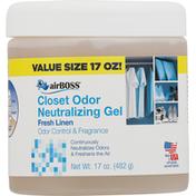AirBoss Closet Odor Neutralizing Gel, Fresh Linen, Value Size