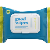Goodwipes Wipes, Flushable & Biodegradable, Shea-Coco