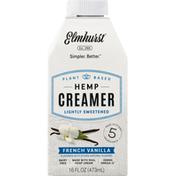 Elmhurst Hemp Creamer, Lightly Sweetened, French Vanilla
