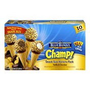 Blue Bunny Champ! Vanilla & Chocolate Snack Size Ice Cream Cones - 10 CT