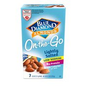 Blue Diamond On-The-Go Almonds, Lightly Salted - Low Sodium