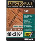 Deck Plus Screws, Wood & Fence, Tan, 3.5 Inch