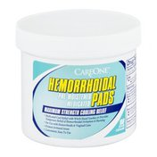 CareOne Medicated Pre-Moistened Pads, Hemorrhoidal with Witch Hazel