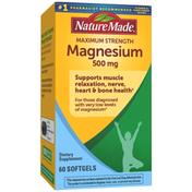 Nature Made Maximum Strength Magnesium Oxide 500 mg  Softgels