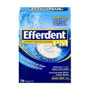 Efferdent PM Overnight Denture Cleanser Tablets Power Mint Flavor - 78 CT