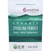 Essential Living Foods Spirulina Powder, Organic