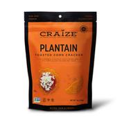 Craize Corn Plantain Toasted Corn Crackers