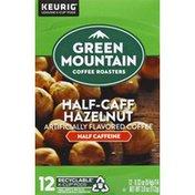 Green Mountain Coffee, Roasters, Half Caffeine, Hazelnut, Pods