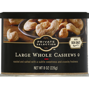 Private Selection Cashews, with Sea Salt, Whole, Large