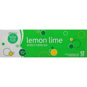 Food Club Soda, Lemon Lime, Caffeine Free, 12 Pack