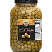 First Street Spanish Olives, Premium, Stuffed Manzanilla