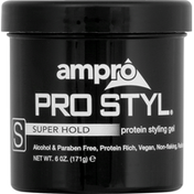 Ampro Styling Gel, Protein, Super Hold