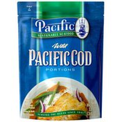 Pacific Sustainable Seafood Wild Pacific Portions Cod