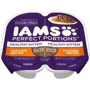 IAMS Perfect Portions Healthy Kitten Chicken Recipe Premium Cat Food