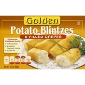 Golden Potato Blintzes Filled Crepes