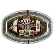 Handi-Foil Football Pans, 6 Pack