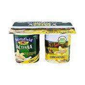 Activia Stonyfield  Activia Organic Vanilla Lowfat Yogurt