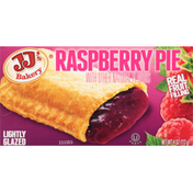 JJ's Bakery Pie, Raspberry, Lightly Glazed