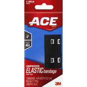 Ace Compression Elastic Bandage with Clips 4 Inch