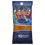 Noxzema Shavers, Just Right, 3-Blade, Economy Pack