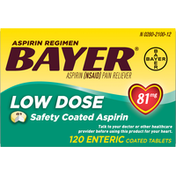 Bayer Aspirin, Low Dose, 81 mg, Coated Tablets
