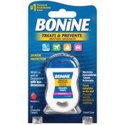 Bonine Treats & Prevents Motion Sickness Raspberry Chewable Tablets