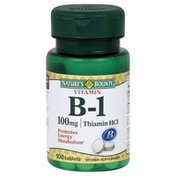 Nature's Bounty Vitamin B-1, Thiamin HCl, 100 mg, Tablets